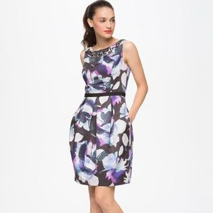 Eliza J Sleeveless Dress With Beaded Neckline